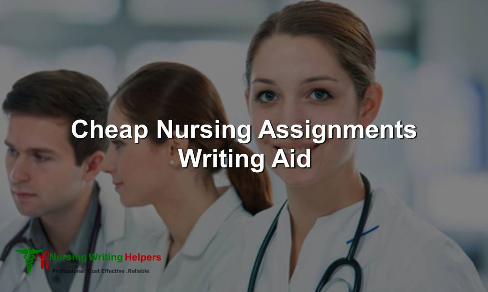Cheap Nursing Assignments Writing Help