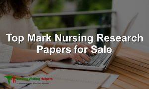 Legit Nursing Research Paper Writers Online