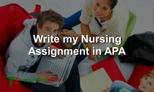 Write my Nursing Assignment in APA